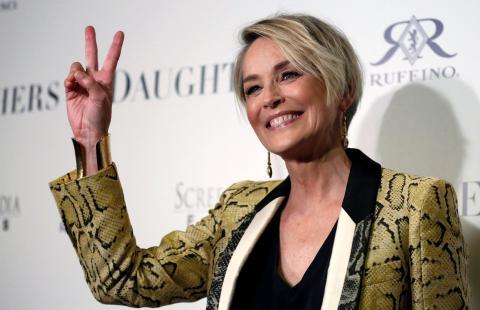 La actriz y modelo Sharon Stone