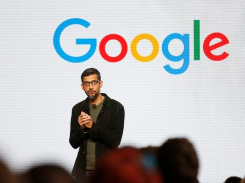 Sundar Pichai, CEO de Google, habla durante la presentación del nuevo hardware en San Francisco.