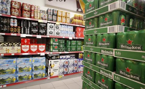supermercado, cervezas