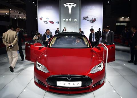 The Tesla Model S P85D won the highest rating Consumer Reports has ever awarded. Johannes Eisele/AFP/Getty Images