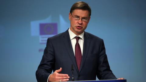 El vicepresidente de la Comisión Europea, Valdis Dombrovskis