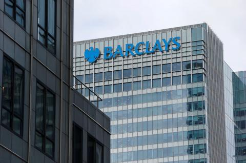 A Barclays bank office is seen at Canary Wharf in London. Reuters