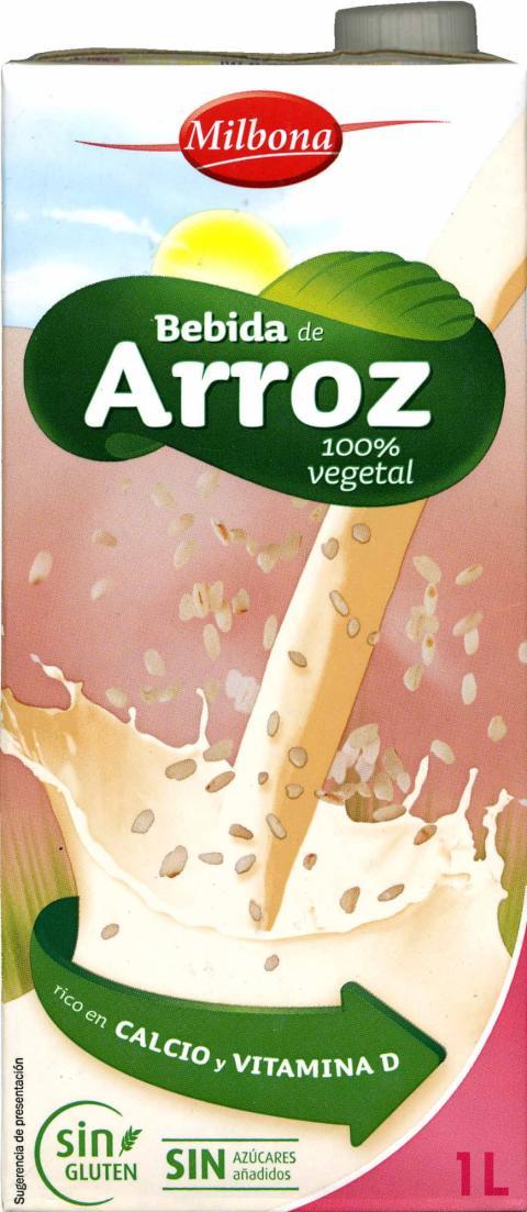 Bebida de arroz ecológica de Lidl