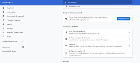 borrar datos de navegacion de Chrome