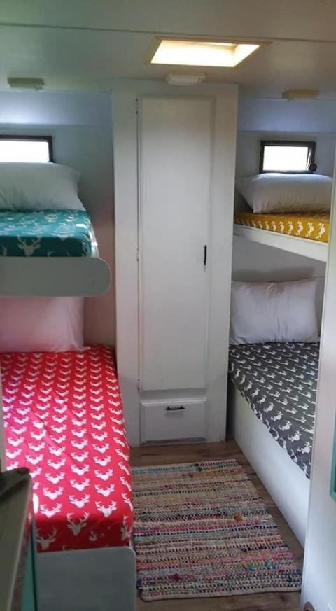 The bunk beds. Courtesy of Aimee Nelson