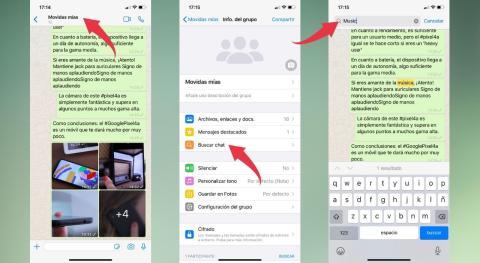 Busca tus mensajes en WhatsApp