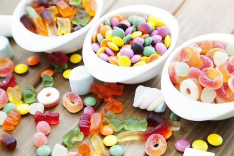Dulces con azúcar.