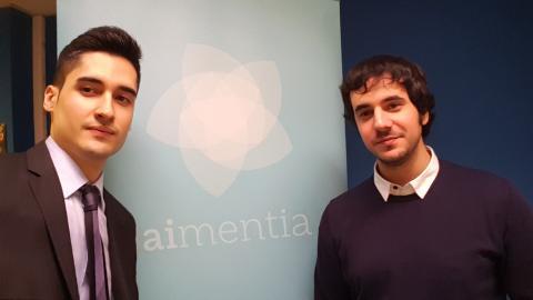 Edgar Jobar (izquierda) y Eric Mourin, fundadores de Aimentia