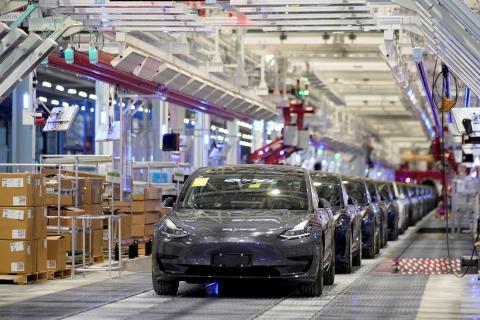 Fábrica de Tesla en Shangái (China)