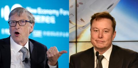 El fundador de Microsoft, Bill Gates, y el de Tesla, Elon Musk