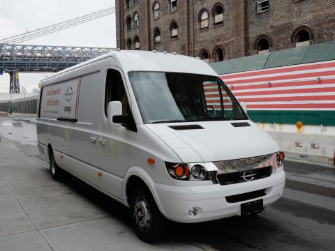 Una furgoneta eléctrica de Chanje.
