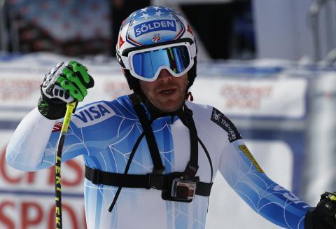 El esquiador estadounidense Bode Miller compite con una cámara GoPro.