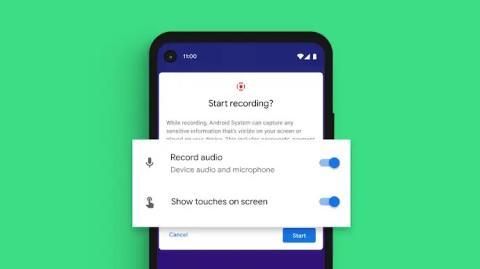 Grabación de pantalla Android 11