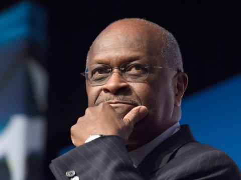 Herman Cain, CEO, The New Voice, speaks during Faith and Freedom Coalition's Road to Majority event in Washington. Molly Riley/AP Images