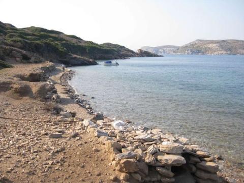 La isla Stroggilo en Grecia.