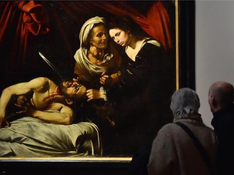 """Judith Decapitando a Holofernes"" de Caravaggio"
