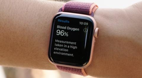Niveles de oxígeno Apple Watch