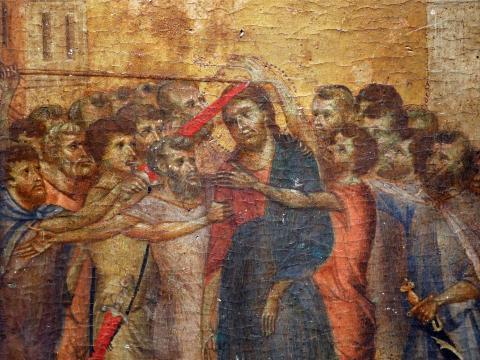 """El cuadro, """"Cristo Burlado""""."""