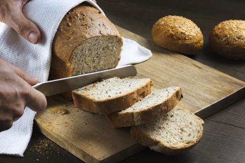 Pan dehelado sin gluten.