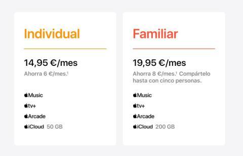Precios de Apple One