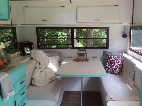 The renovated camper. Courtesy of Aimee Nelson