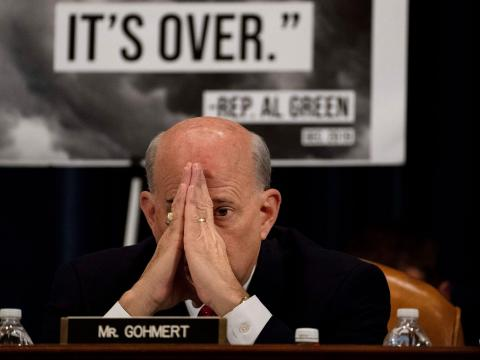 Rep. Louie Gohmert waits to speak during the markup of the articles of impeachment on Capitol Hill in Washington, DC on December 12, 2019. Photo by Melina Mara/The Washington Post via Getty Images