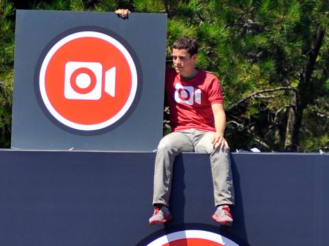 Ryan Gomba, en la sede de Facebook en una fotografía realizada en 2013