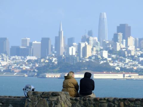 Skyline de San Francisco desde Sausalito, California.