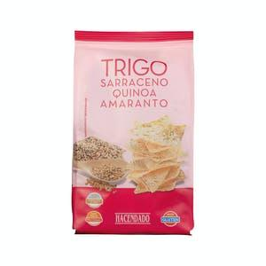 Triángulos de trigo sarraceno con quinoa y amaranto Hacendado