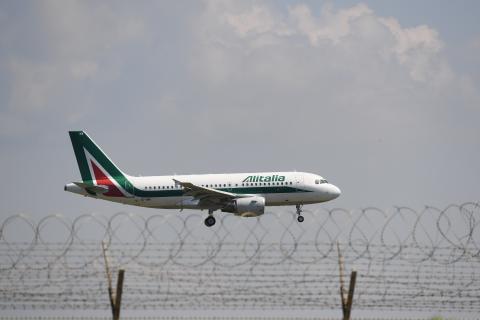 Un vuelo de Alitalia