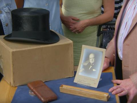 """Las pertenencias de Winston Churchill en """"Antiques Roadshow""""."""