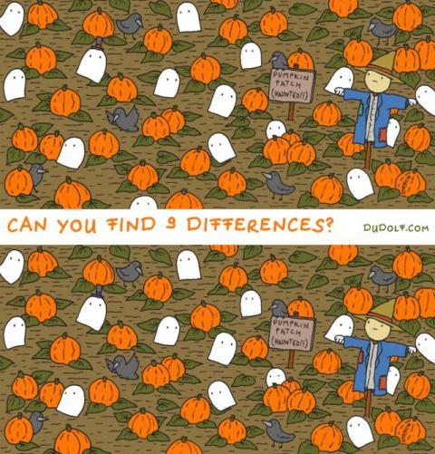 Encuentra las 9 diferencias.