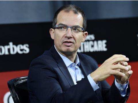 El CEO de Moderna Stephane Bancel asiste a la Cumbre de Forbes Healthcare 2019 en el Jazz at Lincoln Center en la ciudad de Nueva York.