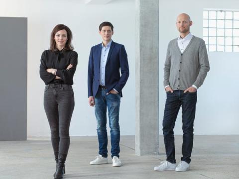 Los fundadores de Cluno, Christina Polleti (izq.), Nico Polleti (centro) y Andreas Schuierer.
