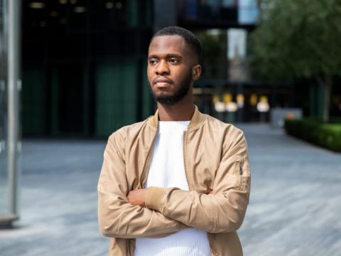 El cofundador de AudioMob, Wilfrid Obeng.
