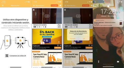 como convertir tu movil iOS o Android en una camara de seguridad