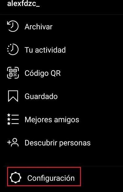 Configuración Instagram