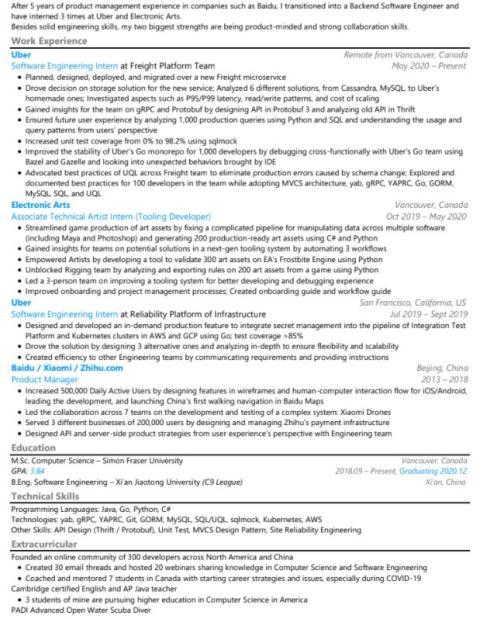 CV de Hayden 8