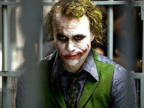Heath Ledger como El Joker.