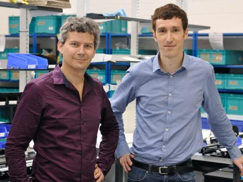 Los fundadores, Romain Moulin (izq.) y Renaud Heitz.