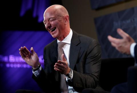Jeff Bezos, en el Club Económico de Washington DC (EEUU)