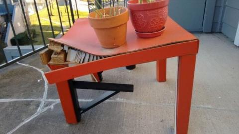 Mesa Lack de Ikea.