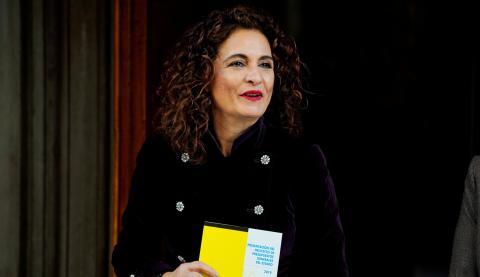 La ministra de Hacienda, María Jesús Montero, durante la presentación del proyecto de presupuestos para 2019