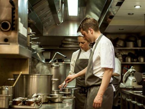 Chef Neil Snowball (right) left Gordon Ramsey's London restaurant, Pétrus, in 2016 to work for private clients.