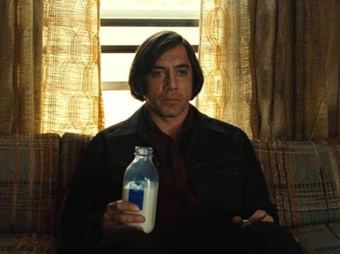 Javier Bardem como Anton Chigurh.