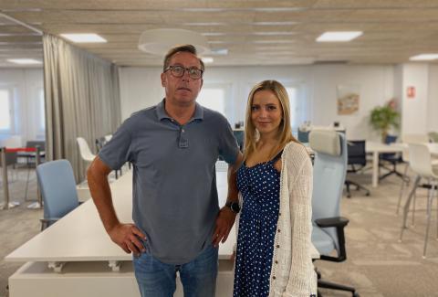 Patricia Pallarés y su padre, Joan Pallarés