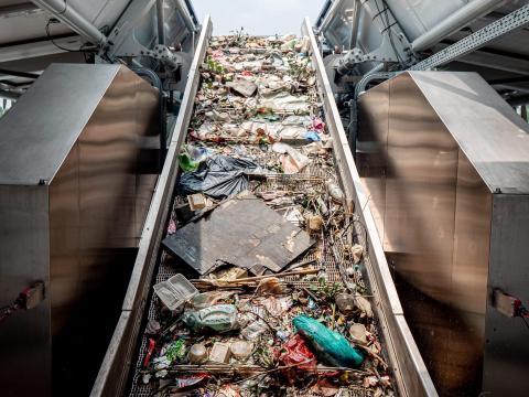 Acumulación de plástico.