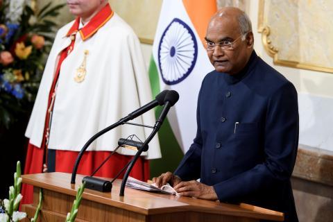 El presidente de la India, Ram Nath Kovind.