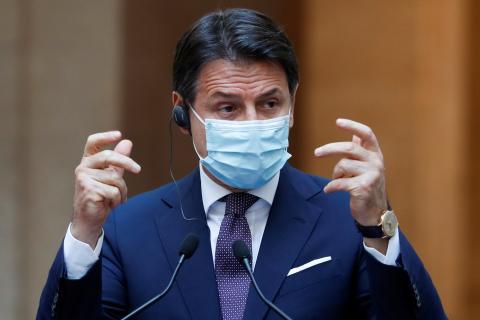 El primer ministro de Italia, Giuseppe Conte.