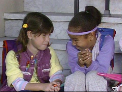 Soleil Moon Frye (izquierda) interpretó a Punky Brewster en la serie de televisión homónima.